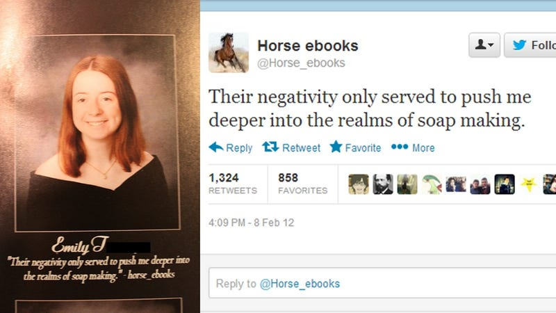 It Finally Happened: HS Senior Uses Horse_ebooks Quote in Yearbook