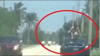 Ever See a Man With Drug-Induced Superhuman Strength Surfing on a Car?