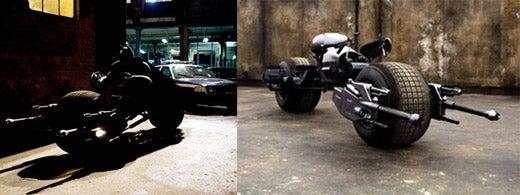 Batman's Motorcycle Revealed