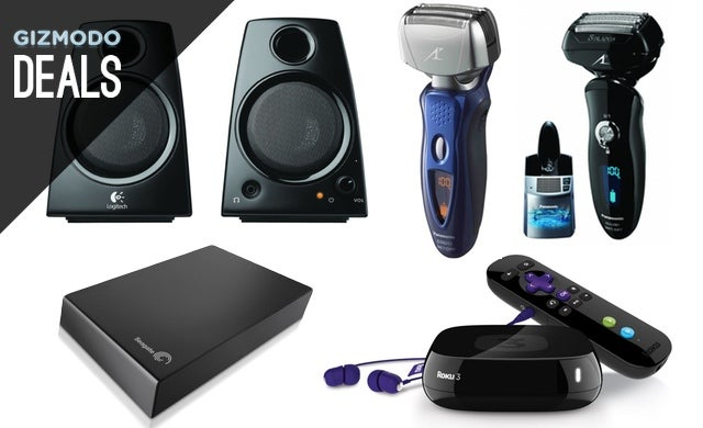 Great Deals on Panasonic Shavers, Logitech Speakers, Roku 3 [Deals]