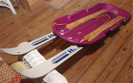 Recycle Old Skis into a DIY Sled