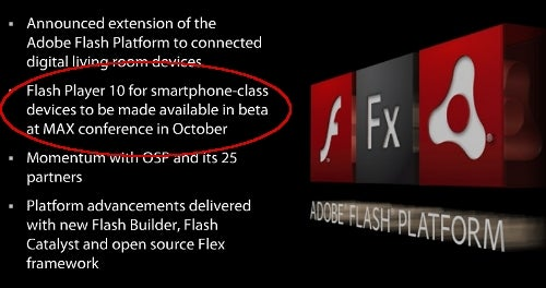 Flash Arriving on Almost Every Phone OS in October