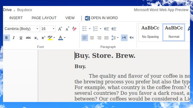 Get the New and Improved Office Web Apps Through SkyDrive