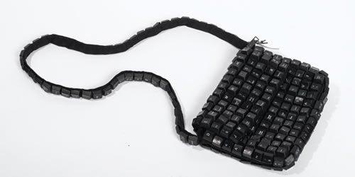 Recycled Keyboard Purse Stores Keys In Keys
