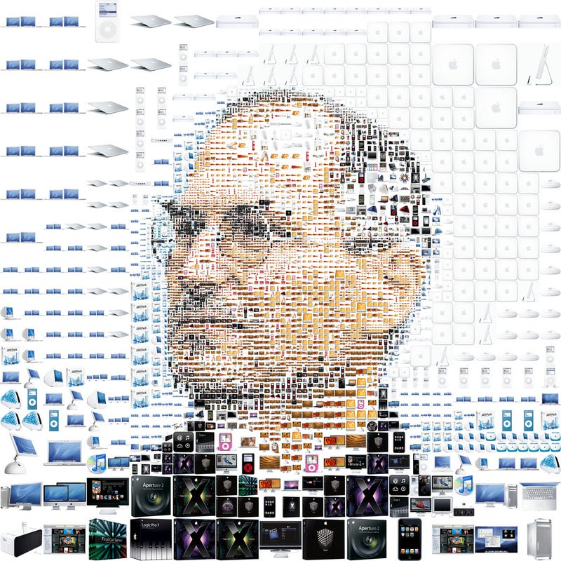 Steve Jobs Apple Collage Looks Impressive