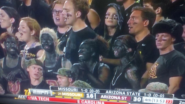 At Least Four Arizona State Fans Went To Last Night's Game In Blackface