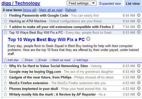 Geek to Live: From Bloglines to Google Reader