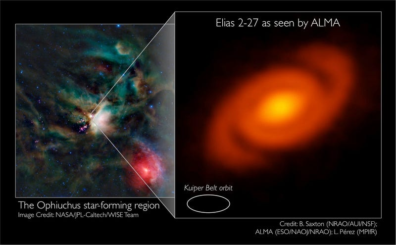 Baby Solar System Sprouts Galaxy-Like Arms
