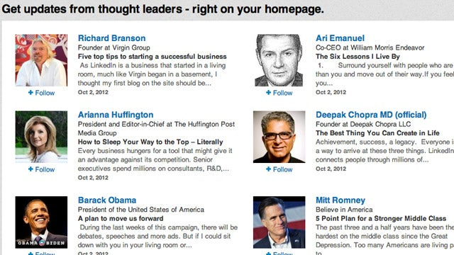 Follow Industry Leaders and Influential People on LinkedIn