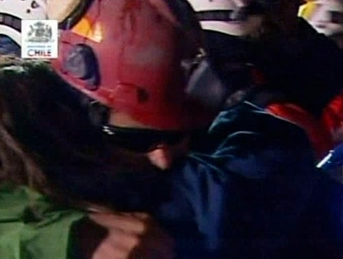 First Trapped Chilean Miner Rescued After 68 Days