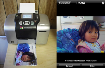 Air Photo Wirelessly Prints Photos from Your iPhone or iPod touch