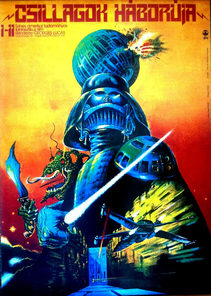 Hungarian Star Wars posters advertise a movie starring only Greedo and Darth Bucket