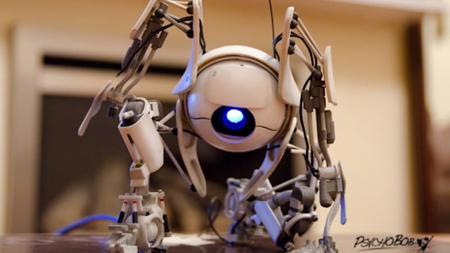 Is This 3D Model of a Portal 2 Robot Cute or Fierce? I Can't Decide.