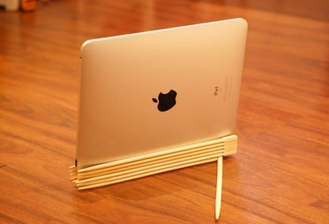 Craft an iPad Stand from Chopsticks