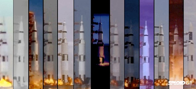 All the Saturn V rockets launching at the same time in a single video