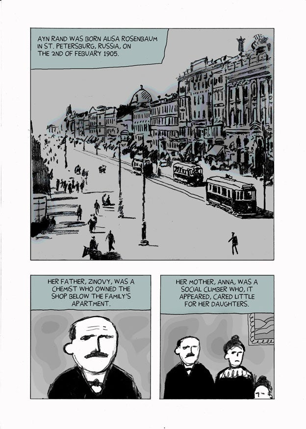 Webcomic biography of Ayn Rand puts her works in context