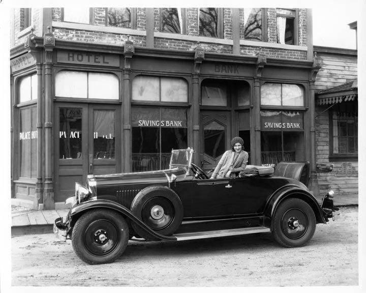 1929 Hupmobile with actress Doris Hill