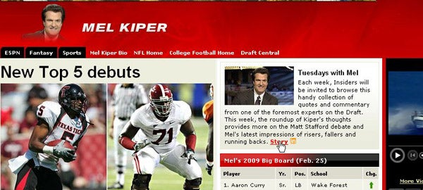 ESPN's Mel Kiper Page Links To Hilarious Profane Car Ad (Update)