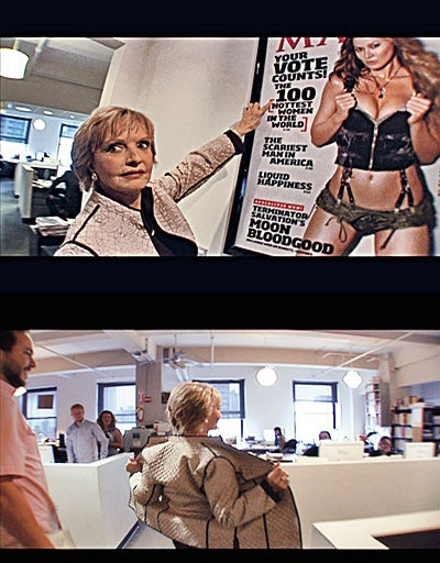 Carol Brady Visits The Offices Of Maxim