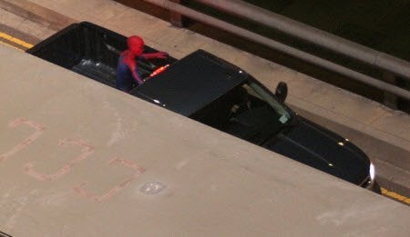 Spider-Man set photos