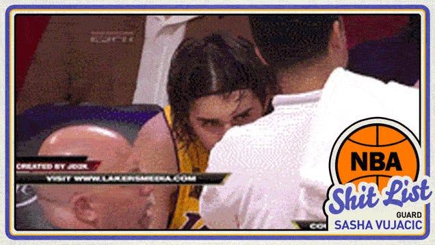 Deadspin's NBA Shit List: Sasha Vujacic, The Infernal Machine