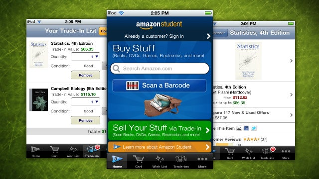 Amazon Student for iOS Makes Buying, Selling Textbooks a Breeze