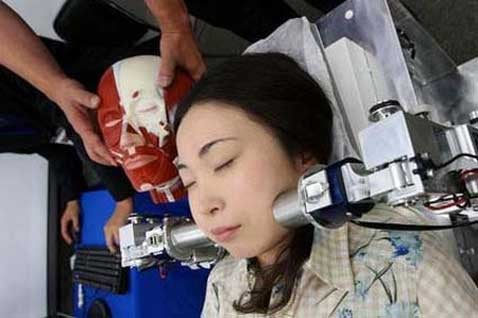 Face Massaging Robot is for the Stressed and Brave