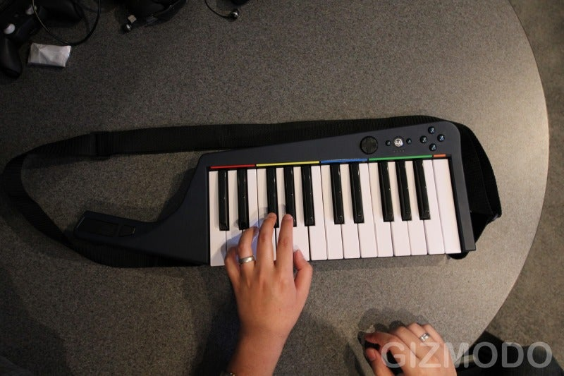 Hands On With Rock Band 3's Pro Guitar and Keyboard (Keytar!)