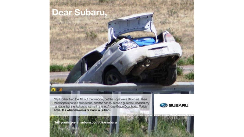 The Lee Grace Dougherty ad Subaru would run if they had balls
