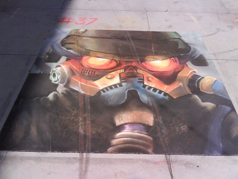 Don't Ride Bicycles Over Killzone 2 Chalk Drawings