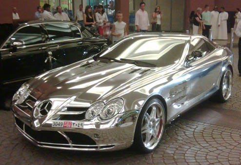 All-Chrome Mercedes McLaren SLR Sets New High Water Mark On Conspicuous Consumption