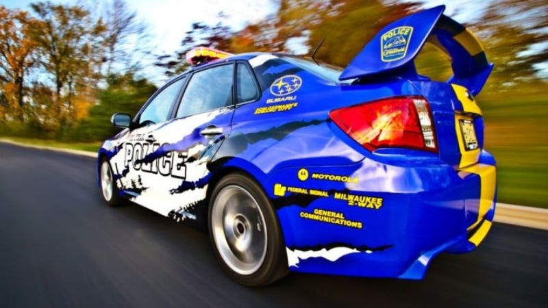 Wisconsin Cops Will Chase You Into A Rally Stage With Their WRX STI