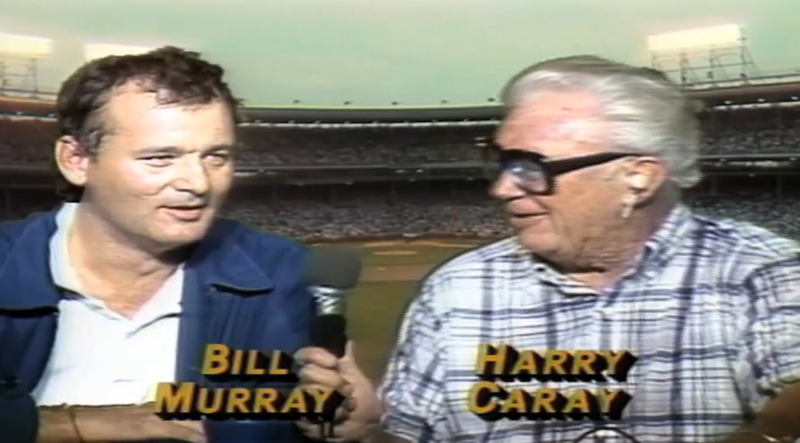 Watch Bill Murray And Harry Caray Kick Off The Cubs' First Night Game