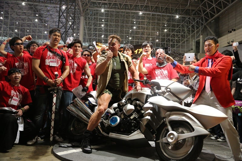 Japan's Favorite Gay Porn Star on an Anime Motorcycle