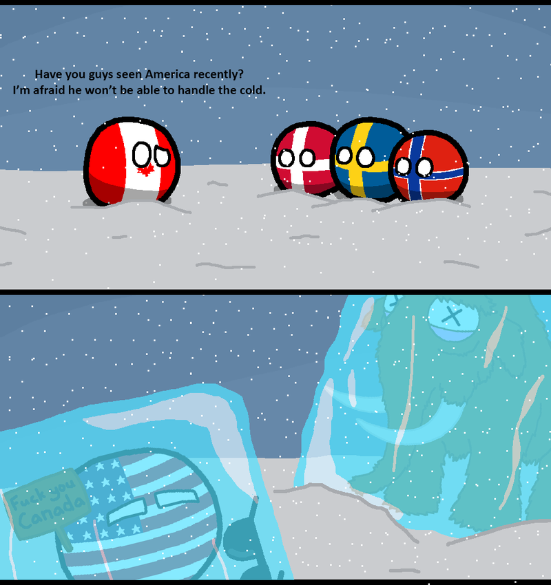 Daily Polandball: It was cold last week. Very, Very Cold.
