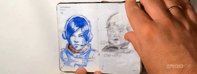 I wish these magically animated drawing journals existed in real life