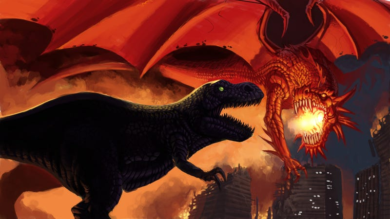 Who would win in a fight: Dragons or Dinosaurs?