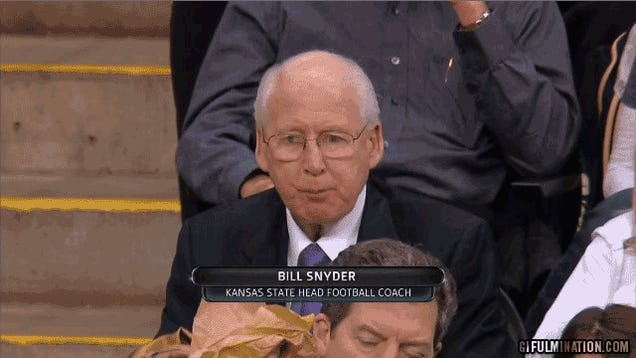 What Is Bill Snyder Eating?
