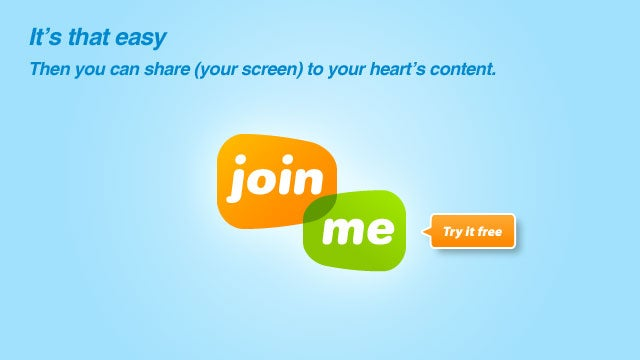 Simplify Your Meetings with Simple Screen Sharing at join.me.