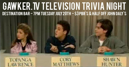 You're Invited: Gawker.TV's Television Trivia Night