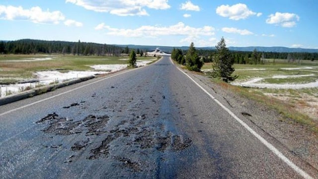 ​The Roads In Yellowstone Are Freaking Melting