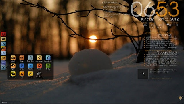 The Snowball Sunset Desktop