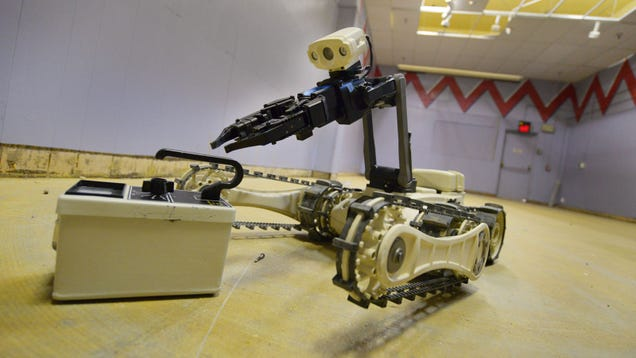 A Rodeo for Bomb Disposal Robots Looks Dangerous