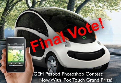 GEM Peapod Photoshop Contest: Vote For The Winner Of The iPod Touch!