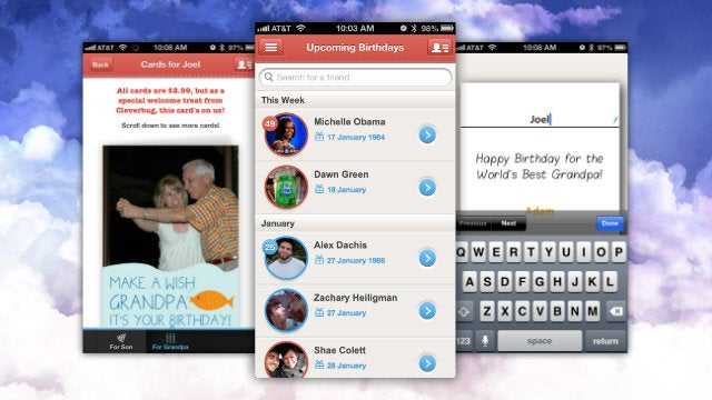 Cleverbug Creates Custom Printed Birthday Cards, Sends Them For You, and the First One's Free