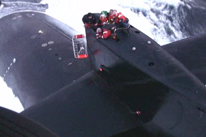 Spectacular Air Rescue of Crewman from Moving US Navy Submarine