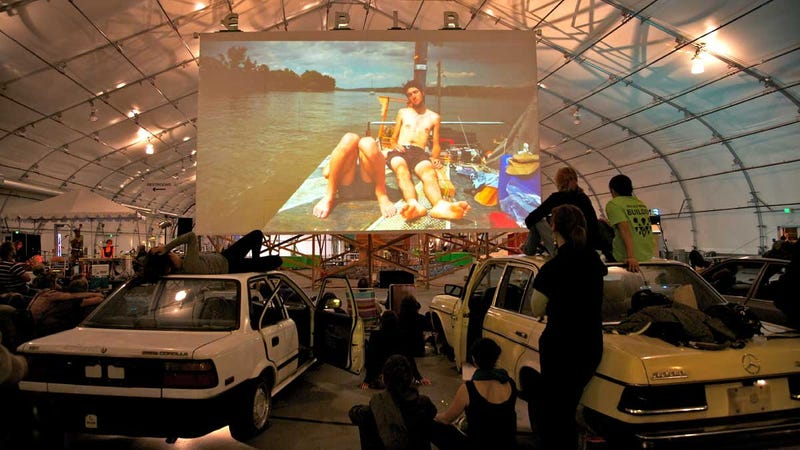 Artists Create Working Post-Apocalyptic Drive-In