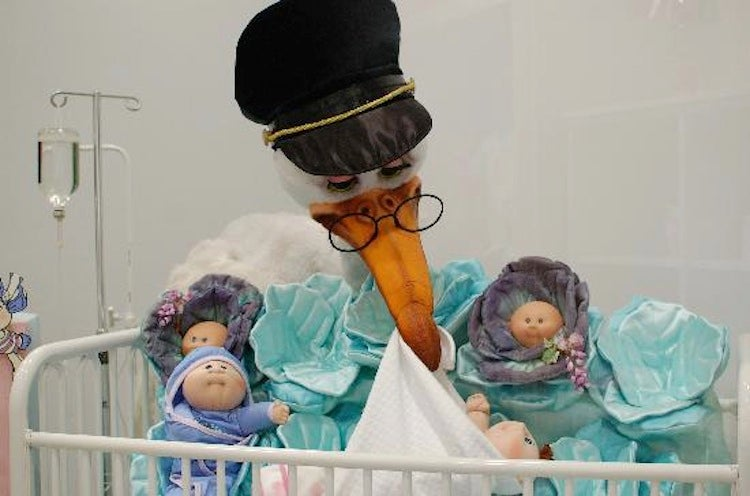 This abandoned hospital has a Cabbage Patch Doll premie ward