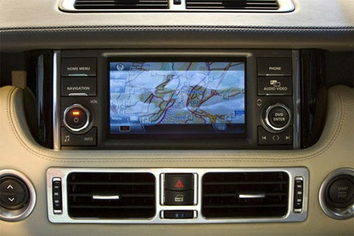 Range Rover 2010's 12-inch Dual View Touchscreen Satisfies Two People at Once