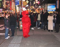 Smelly, Swearing Elmo Back in Times Square